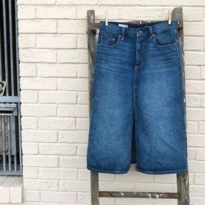 Gap highrise denim pencil skirt.